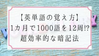 【英単語の覚え方】1カ月で1000語を12周する超効率的な暗記法