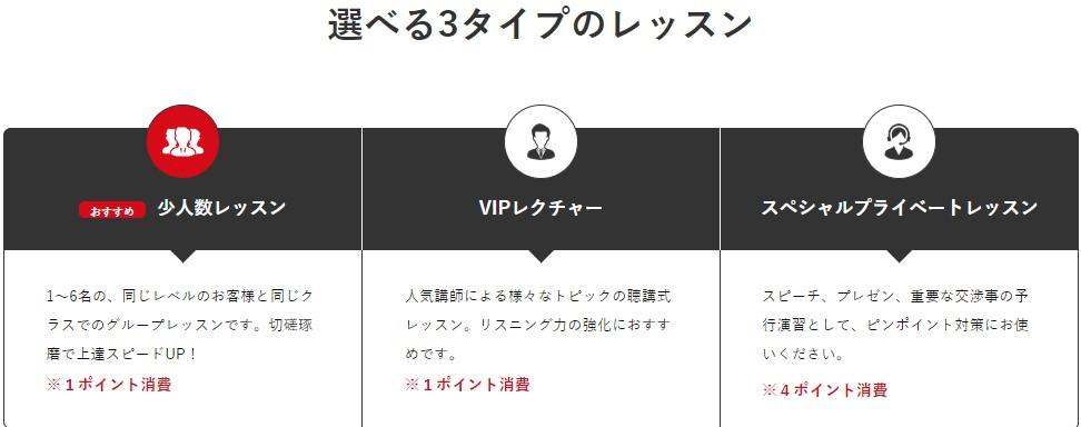 vipabcの3タイプのレッスンスタイル